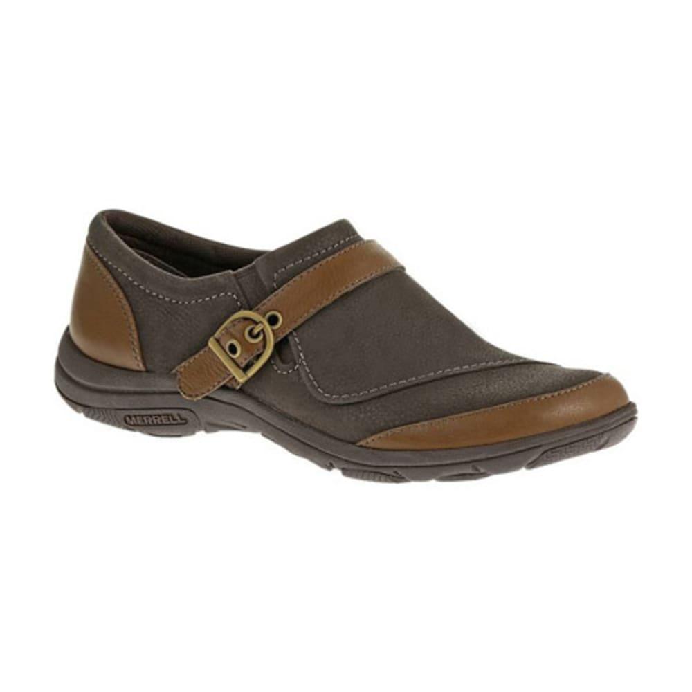 MERRELL Women's Dassie Buckle Shoes, Brown - BROWN