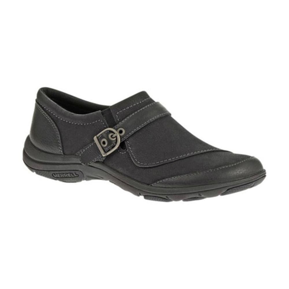 MERRELL Women's Dassie Buckle Shoes, Black - BLACK