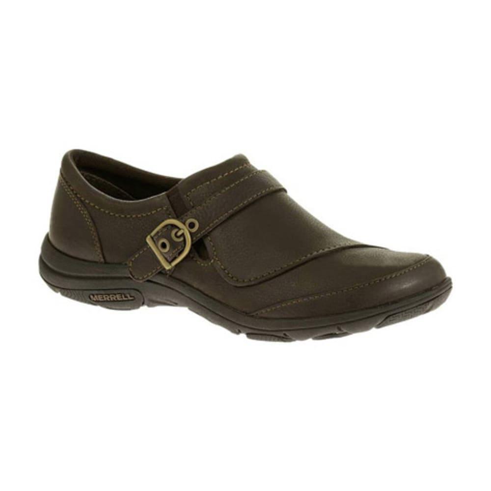 MERRELL Women's Dassie Buckle Shoes, Espresso - ESPRESSO