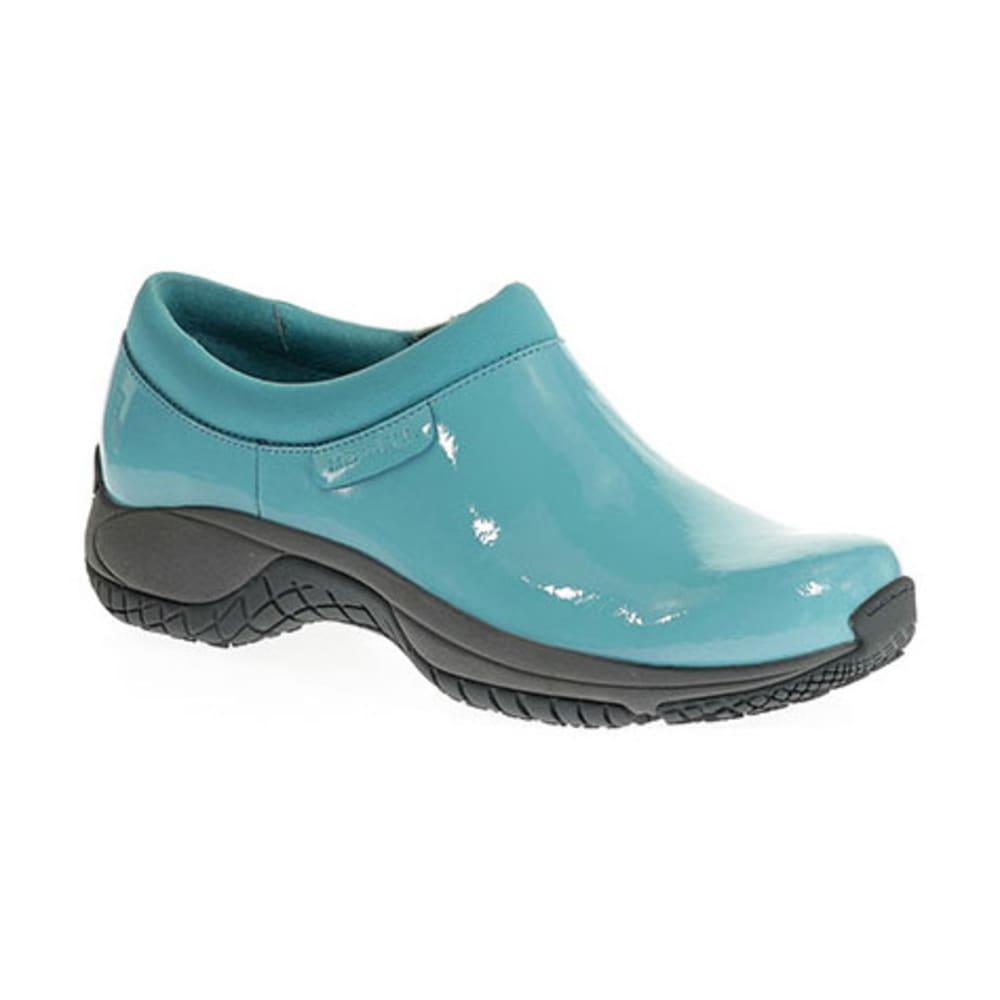 MERRELL Women's Encore Moc Pro Shine Shoes - MAUI BLUE