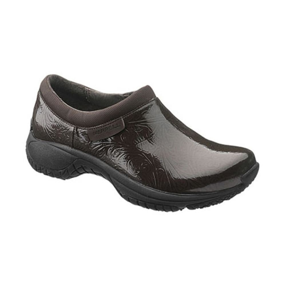 MERRELL Women's Encore Moc Pro Lab Shoes - BROWN