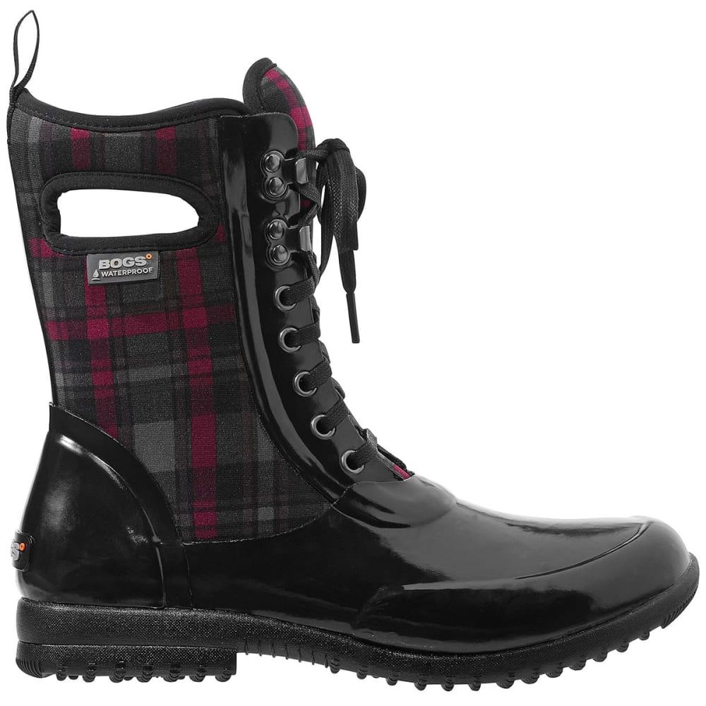 bogs s sidney lace plaid boots