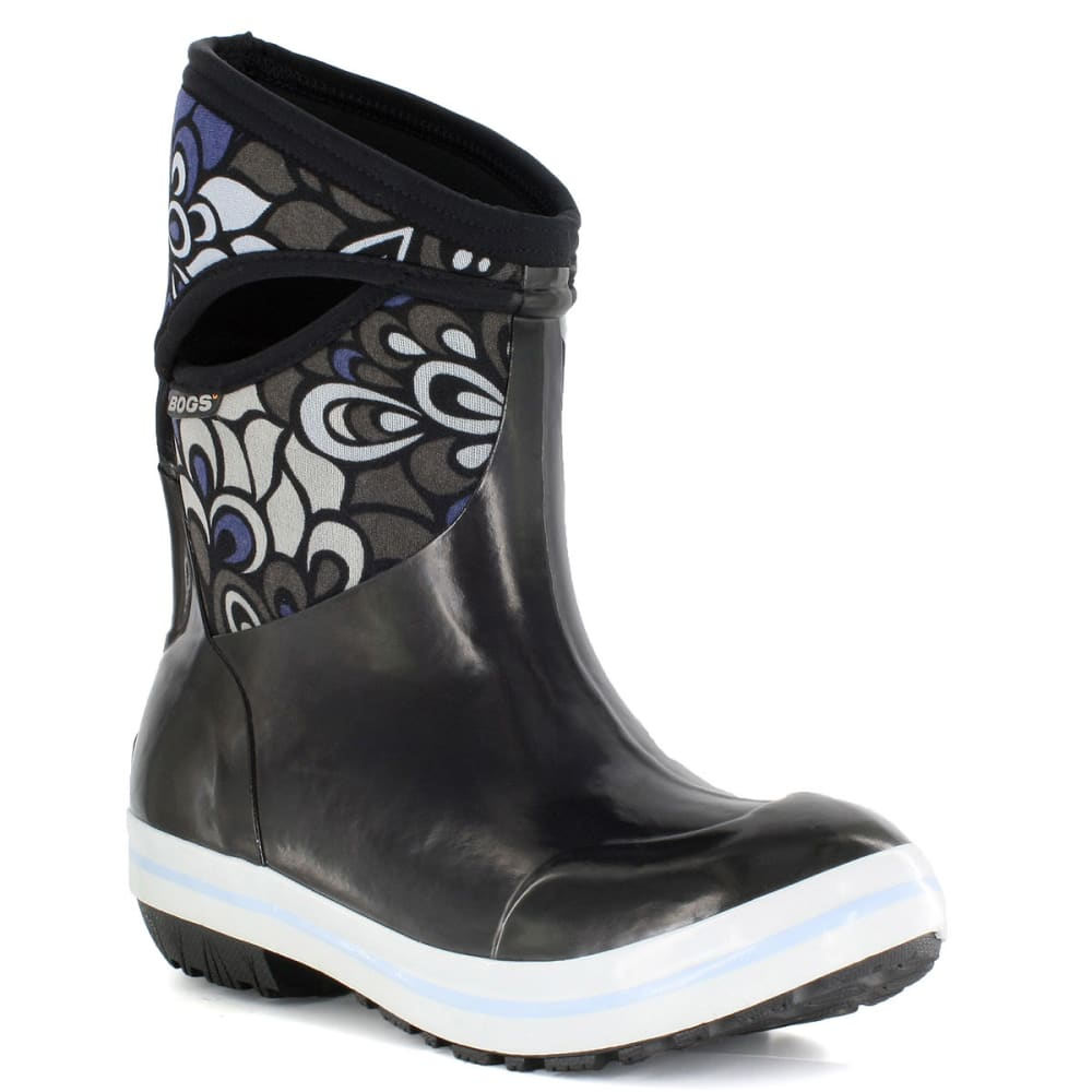 BOGS Women's Plimsoll Mid Vintage Boots, Black - BLACK