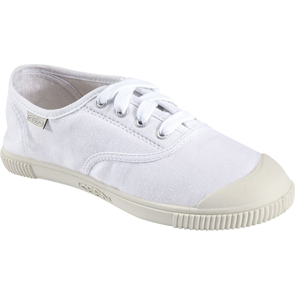 KEEN Women's Maderas Canvas Oxford Shoes, White - WHITE