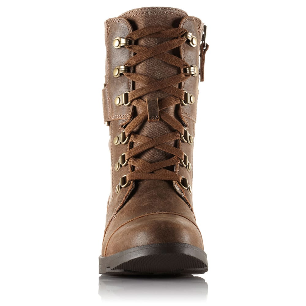 SOREL Women's Major Carly Leather Boots - NUTMEG