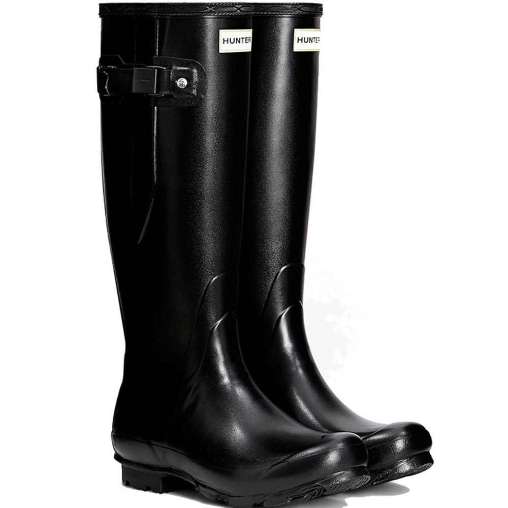 HUNTER Women's Norris Field Side Adjustable Rain Boots - BLACK