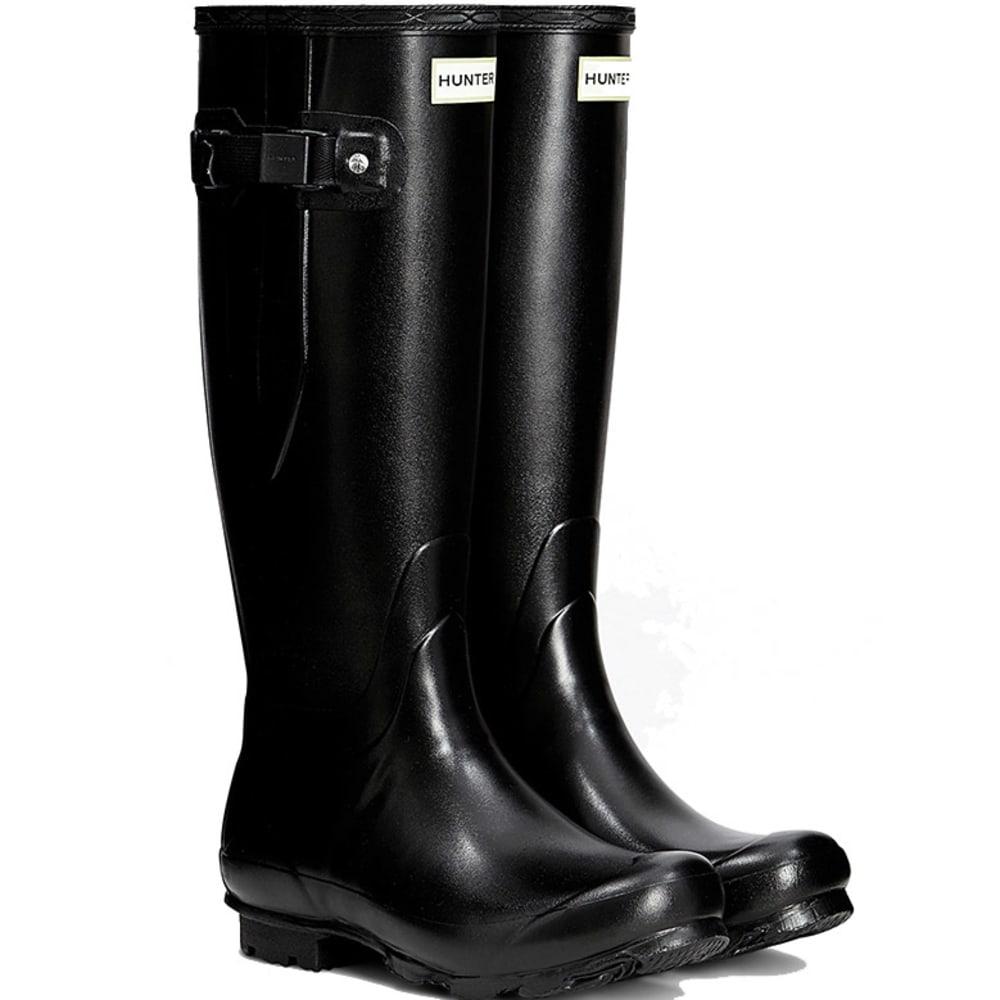 HUNTER Women's Norris Field Side Adjustable Rain Boots - BLACK