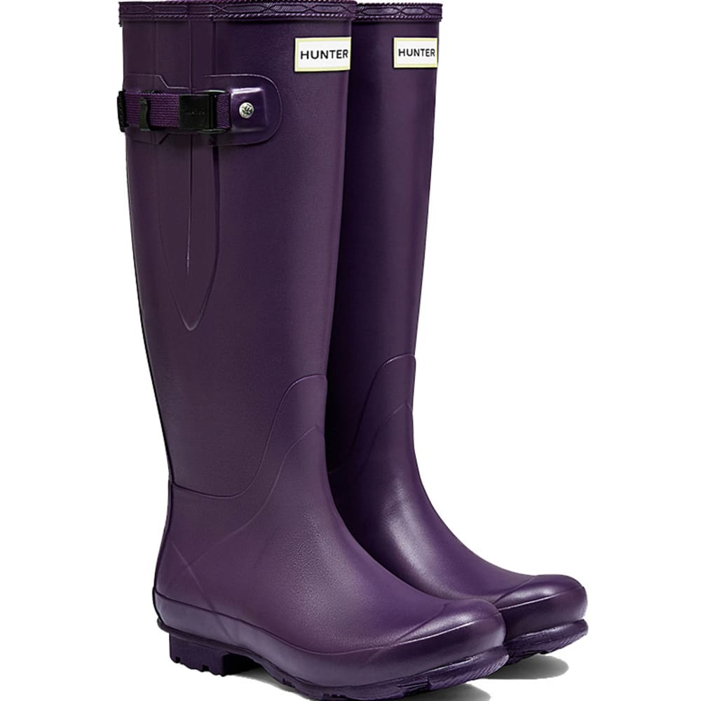 HUNTER Women's Norris Field Side Adjustable Rain Boots - IRIS