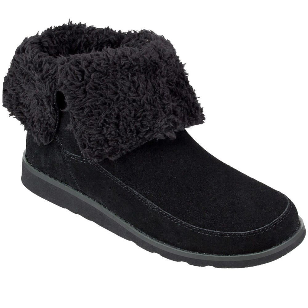 SANUK Women's Drop Top Boots - BLACK