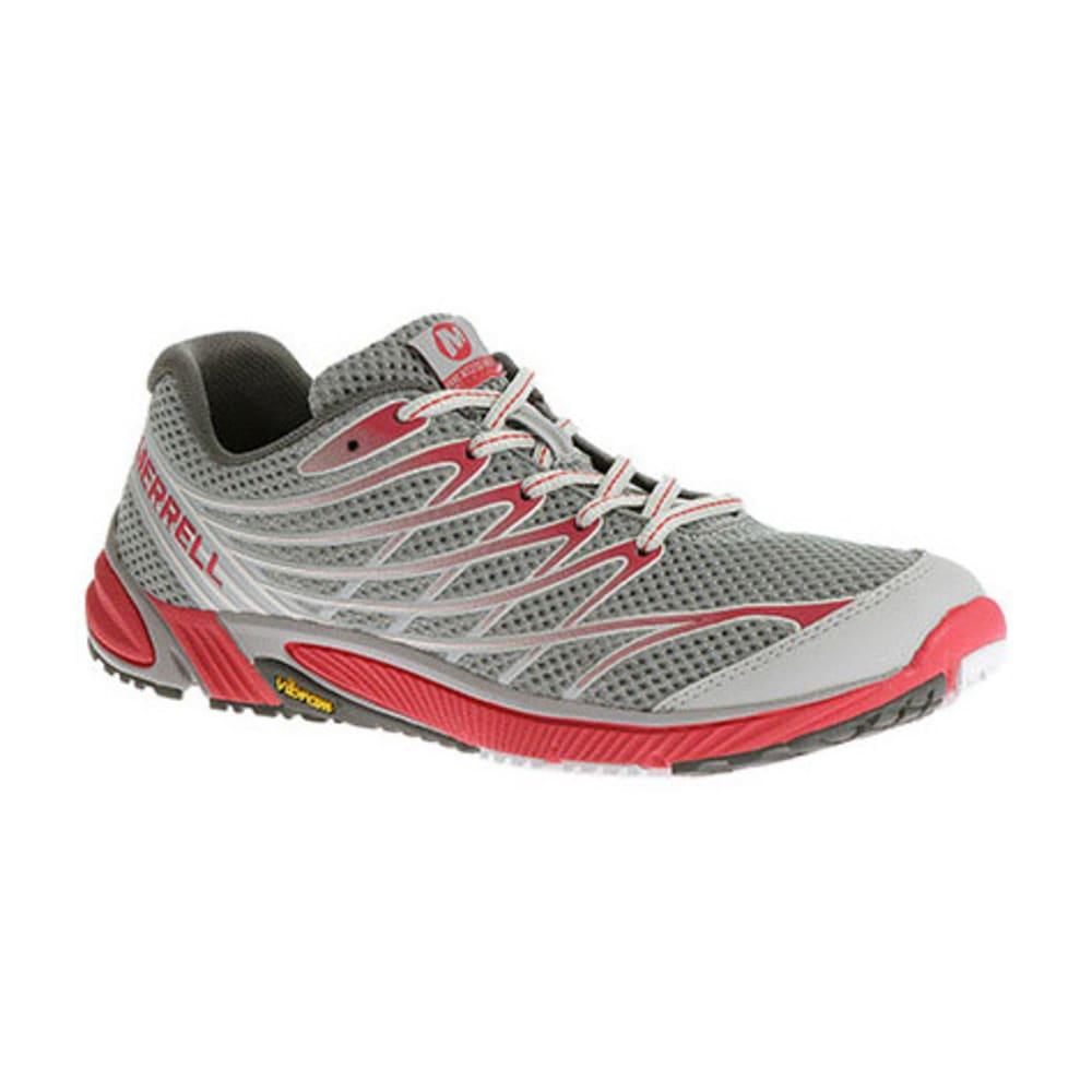 MERRELL Women's Bare Access Arc 4 Running Shoes, Grey/Geranium - GREY/GERANIUM