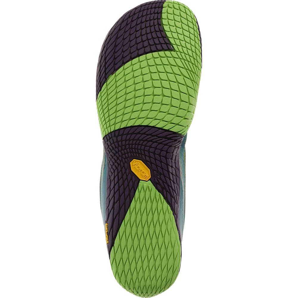 MERRELL Women's Vapor Glove 2 Trail Running Shoes, Bright Green/Purple - BRIGHT GREEN/PURPLE