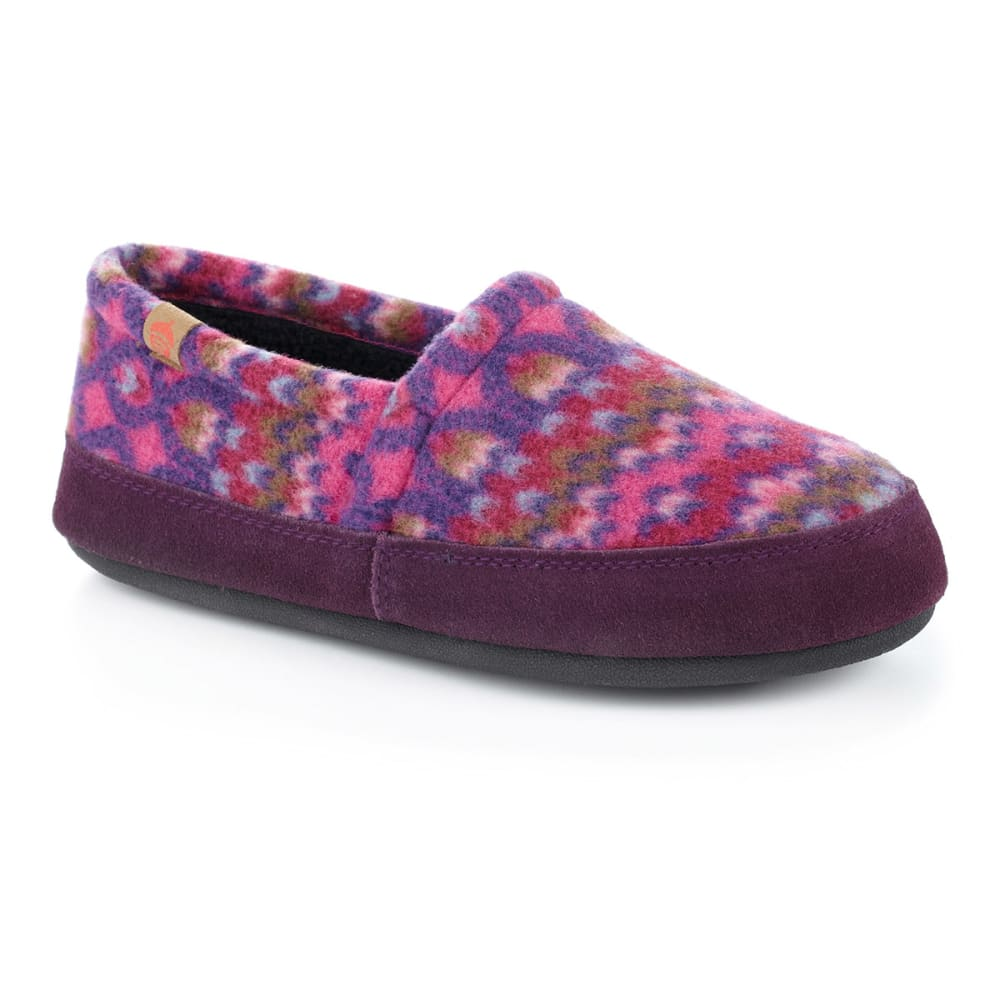 ACORN Women's Moc Slippers, Magenta Cable - MAGENTA