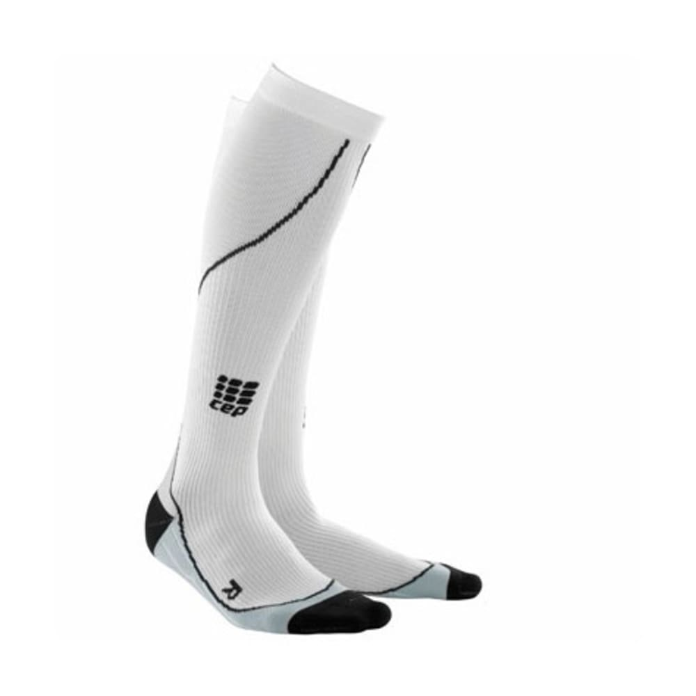 CEP Women's Progressive Compression Running Socks, White - WHITE