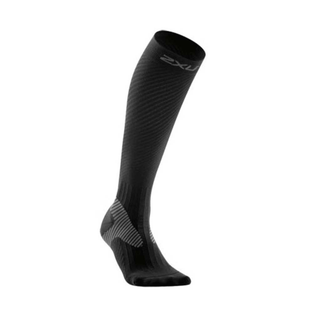 2XU Women's Elite Compression Socks - BLACK/GREY