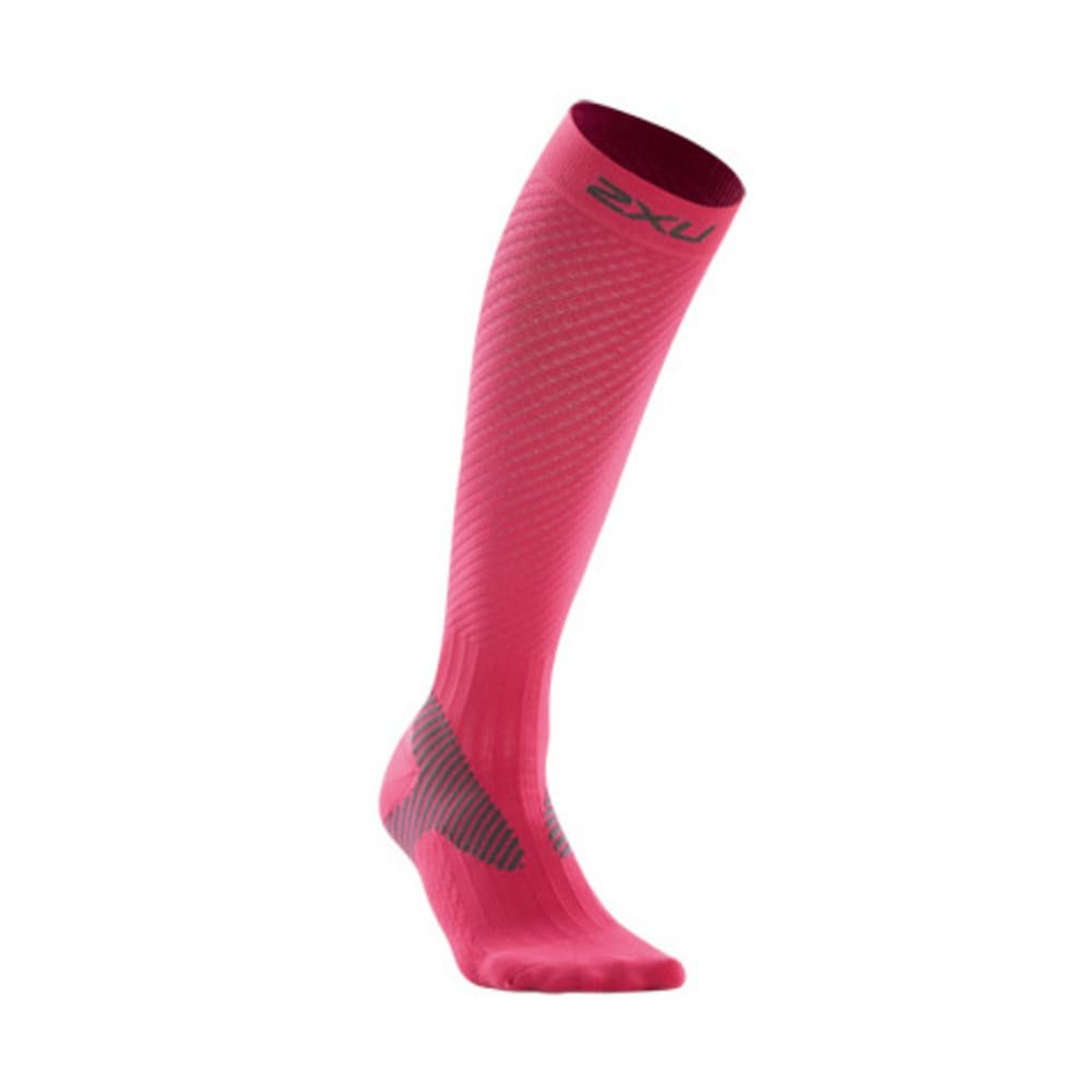 2XU Women's Elite Compression Socks - PINK/GREY