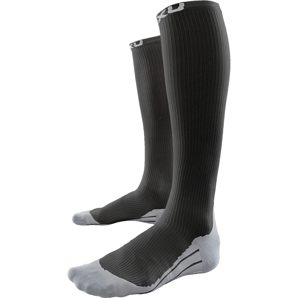 2XU Men's Elite Compression Socks - BLACK/GREY