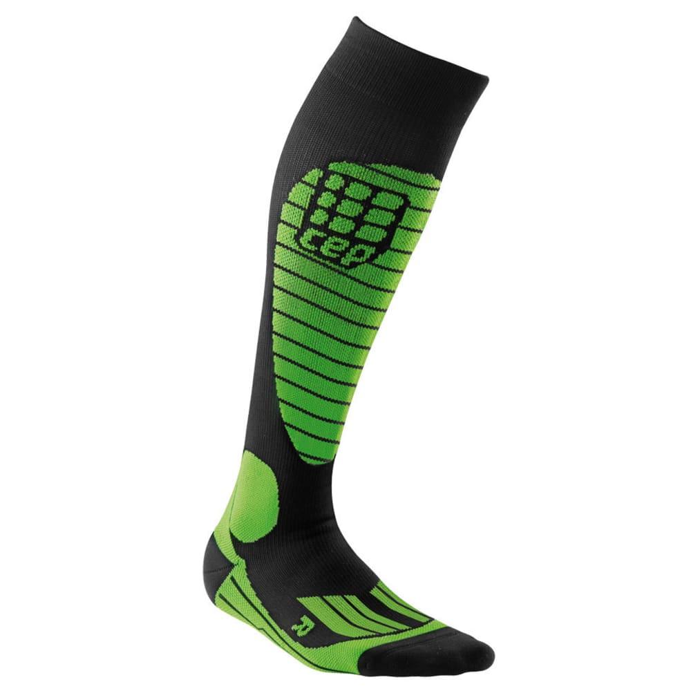 CEP Men's Ski Race Compression Socks - GREEN