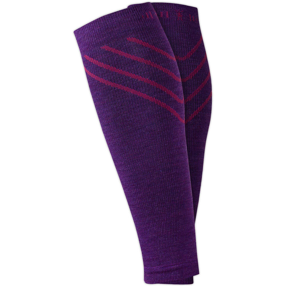 SMARTWOOL PhD Compression Calf Sleeves - PURPLE DAHLIA