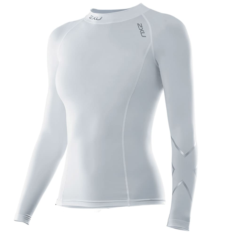 2XU Women's Long Sleeve Compression Top - WHITE