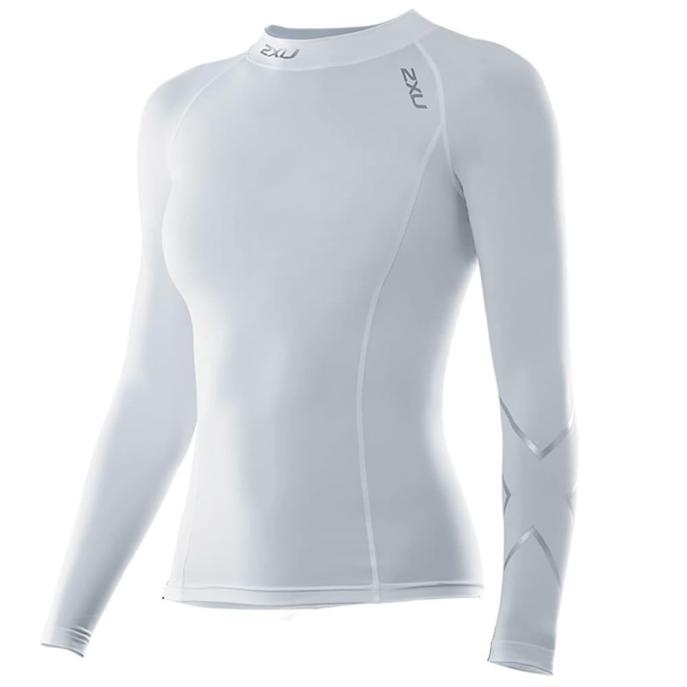 2XU Women's Long Sleeve Compression Top - WHITE