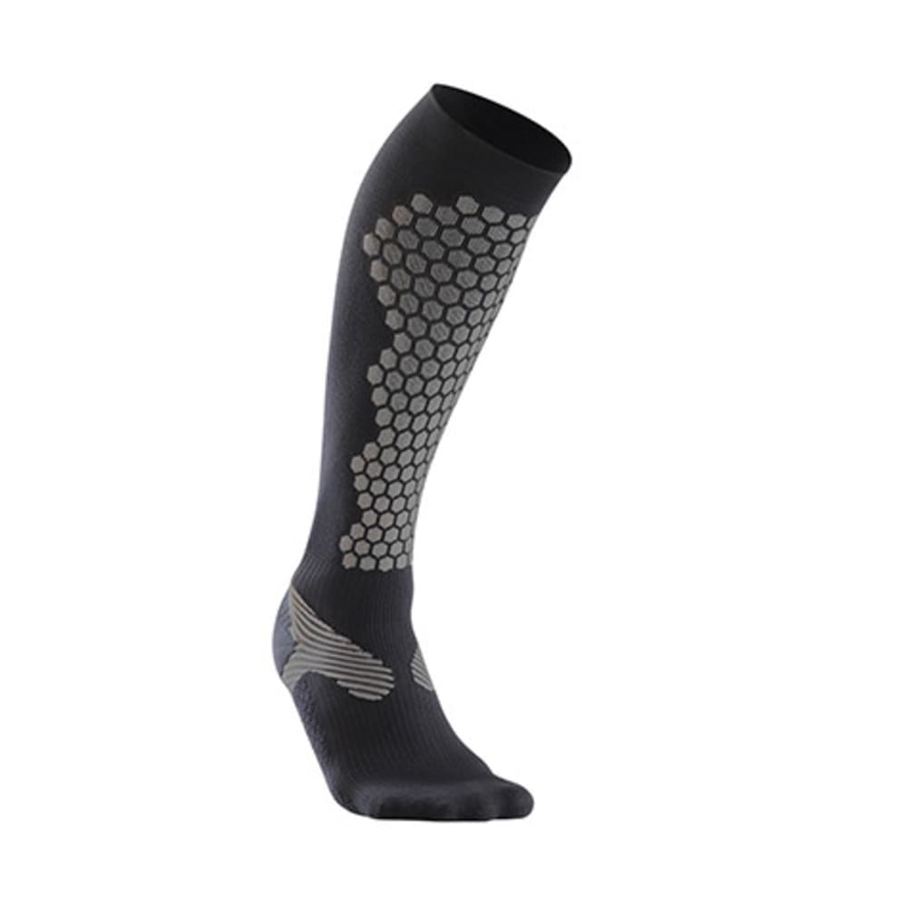 2XU Men's Elite Compression Ski/Alpine Socks - BLACK/GRAY