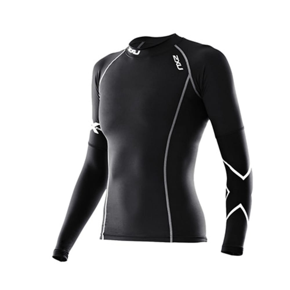 Women's Thermal Long-Sleeved Compression Top in Black - BLACK