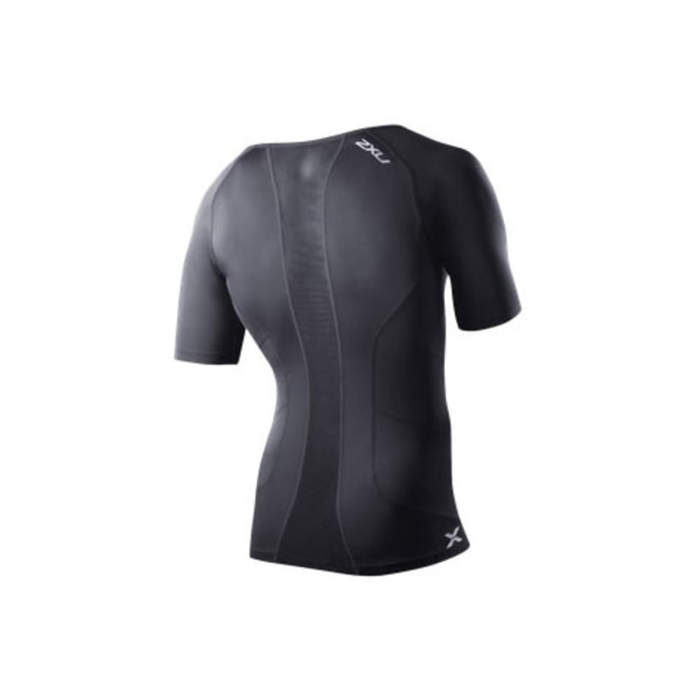 2XU Men's Vented Compression Top - BLACK