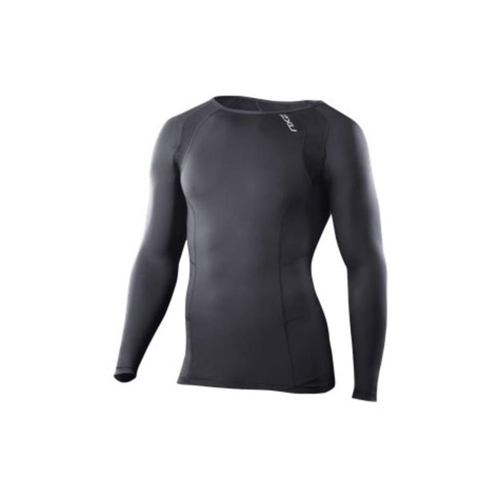 2XU Men's Vented Compression Top, L/S - BLACK