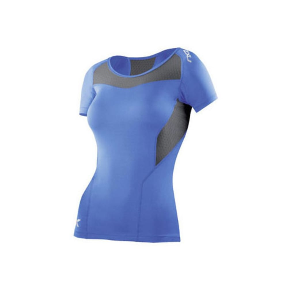 2XU Women's Vented Compression Top - BLUE/GREY