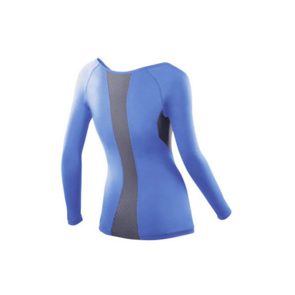 2XU Women's Vented Compression Top, L/S - BLUE/GREY
