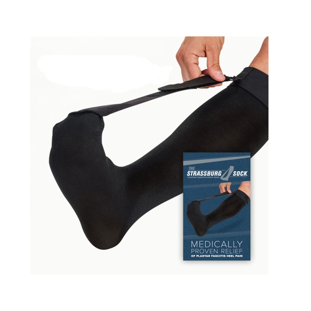 STRASSBURG Sock, Large - BLACK