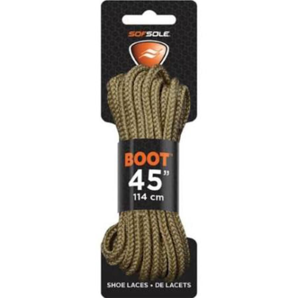 SOF SOLE Waxed 45 in. Laces, Light Brown - LIGHT BROWN