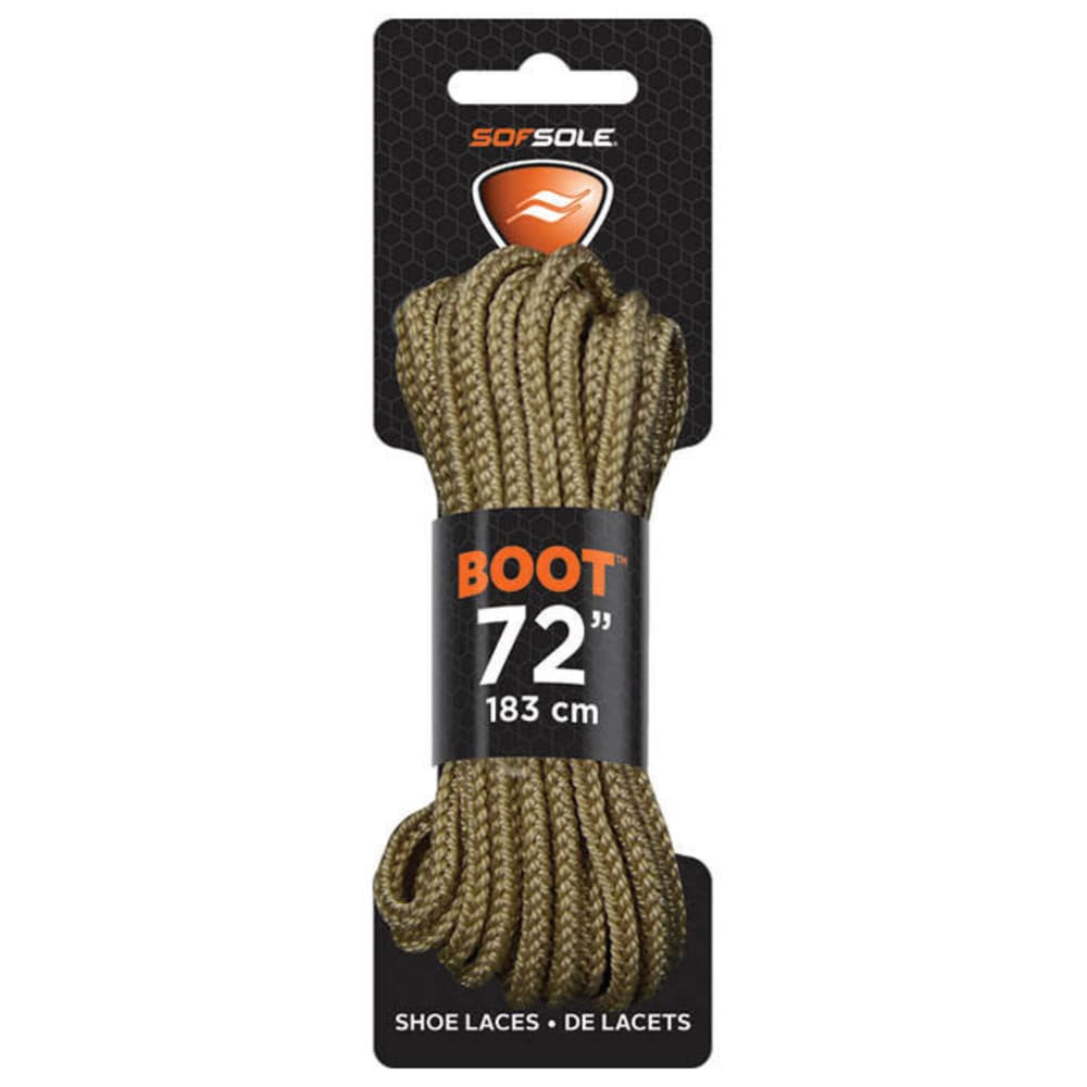 SOF SOLE Waxed 72 in. Laces, Light Brown - LIGHT BRN 83856 72IN