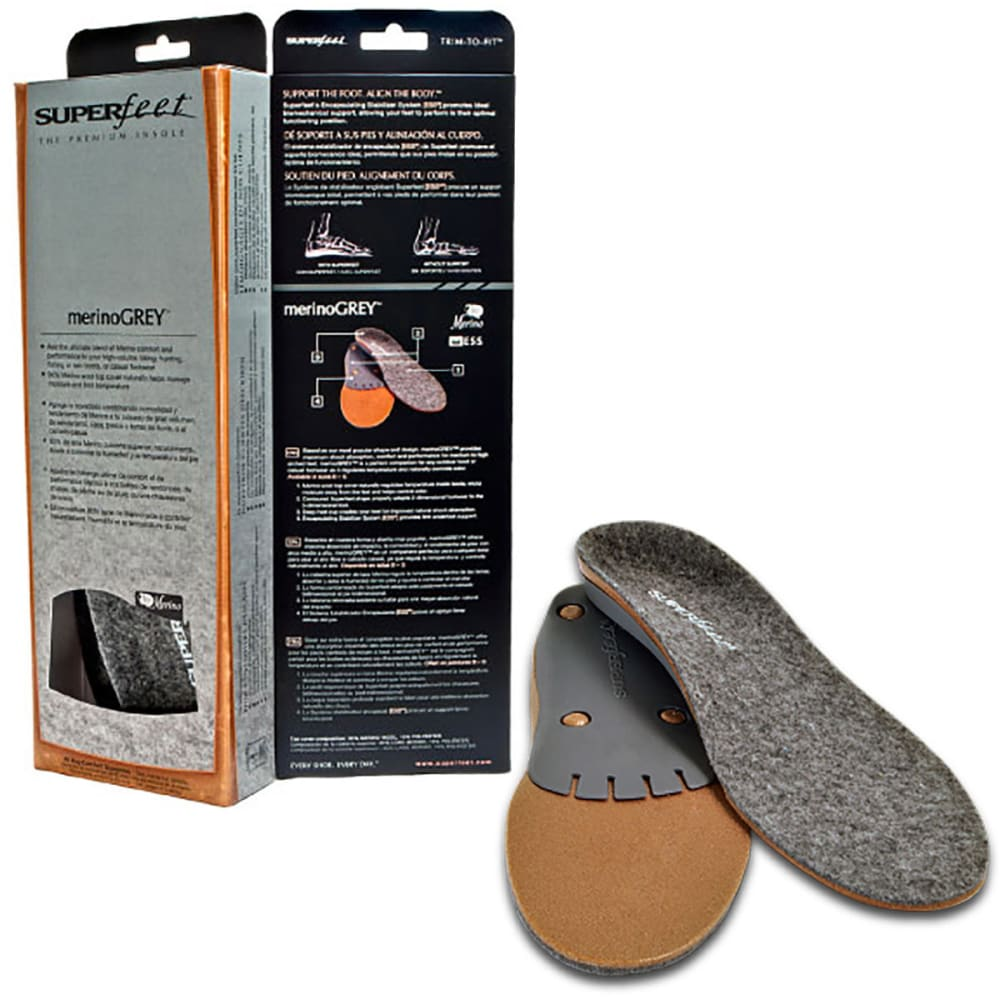 SUPERFEET merinoGrey Insoles - GREY