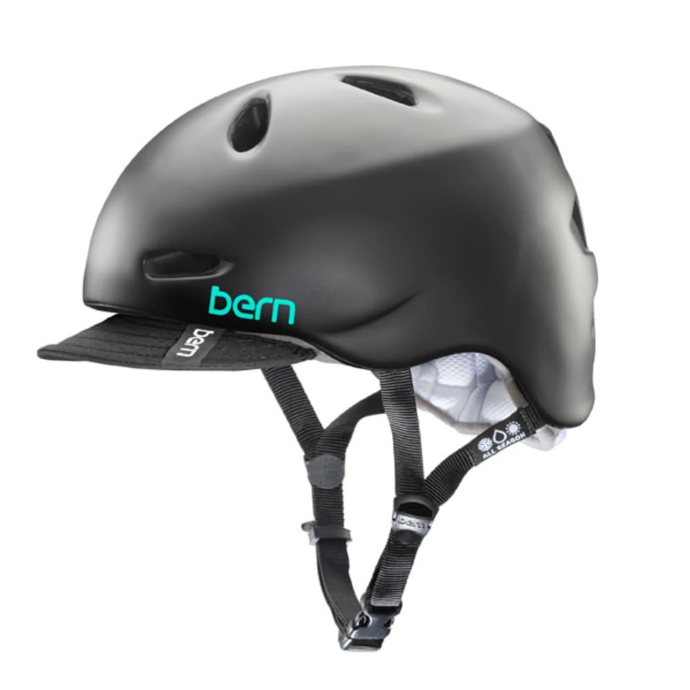 BERN Women's Berkeley Bike Helmet with Visor - BLACK