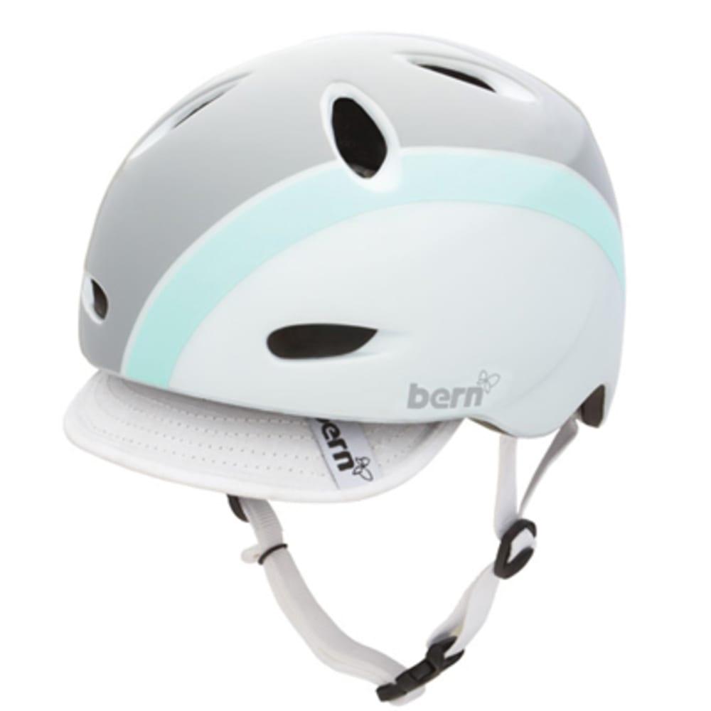 BERN Women's Berkeley Bike Helmet with Visor - WHITE