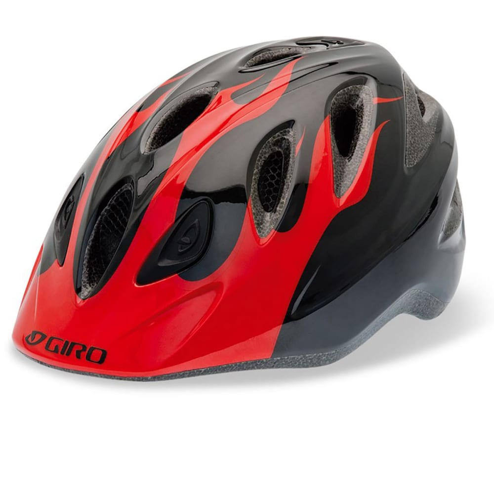 GIRO Kids' Rascal Bike Helmet - RED/BLACK