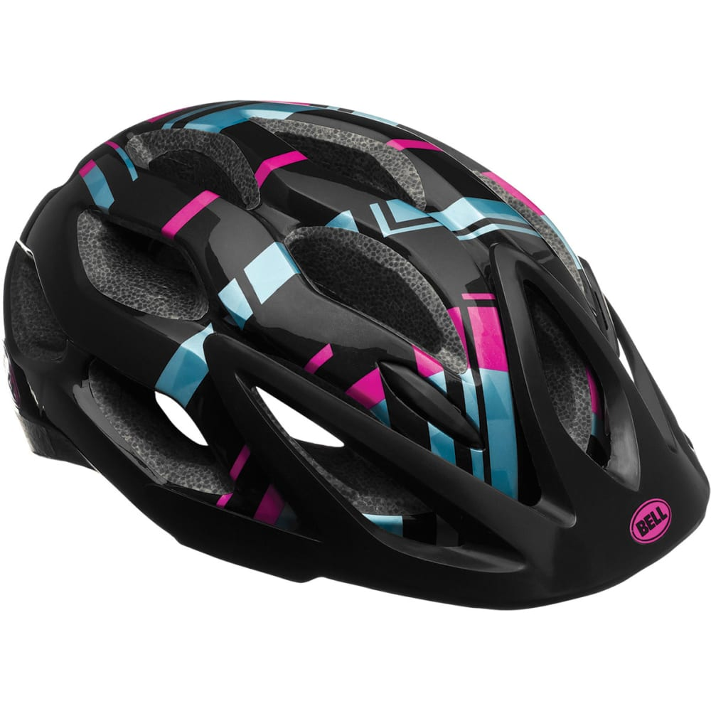 BELL Women's Dixie Bike Helmets, Raspberry Prism - BLACK/RAINFOREST