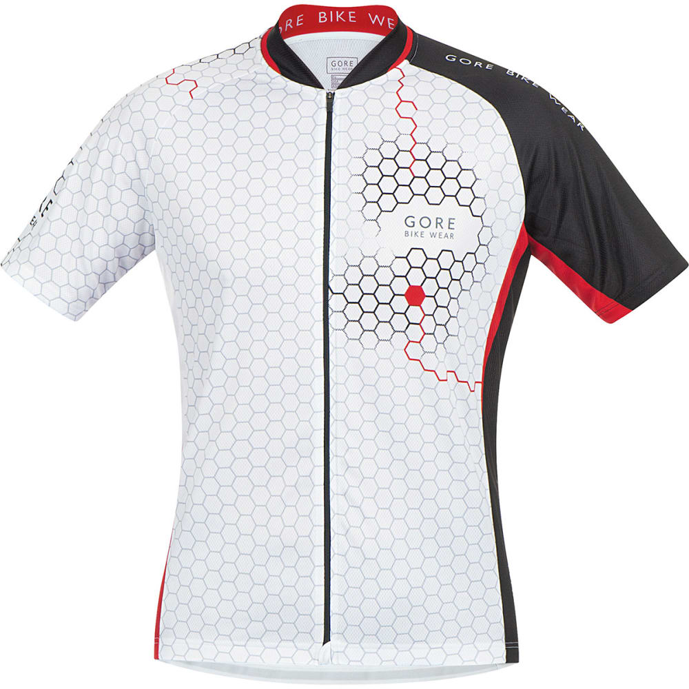 GORE BIKE WEAR Men's Element Hexagon Bike Jersey - WHITE