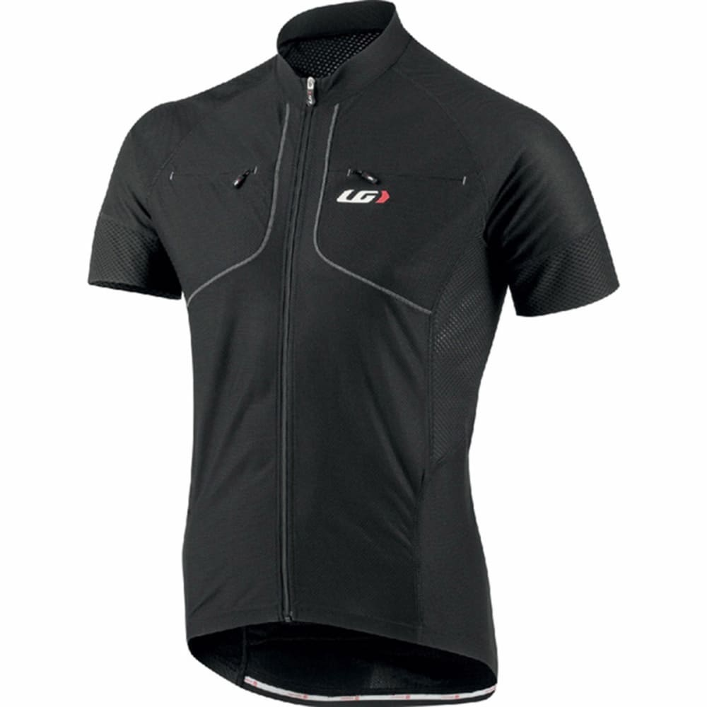LOUIS GARNEAU Men's Evans GT Bike Jersey, Black - BLACK