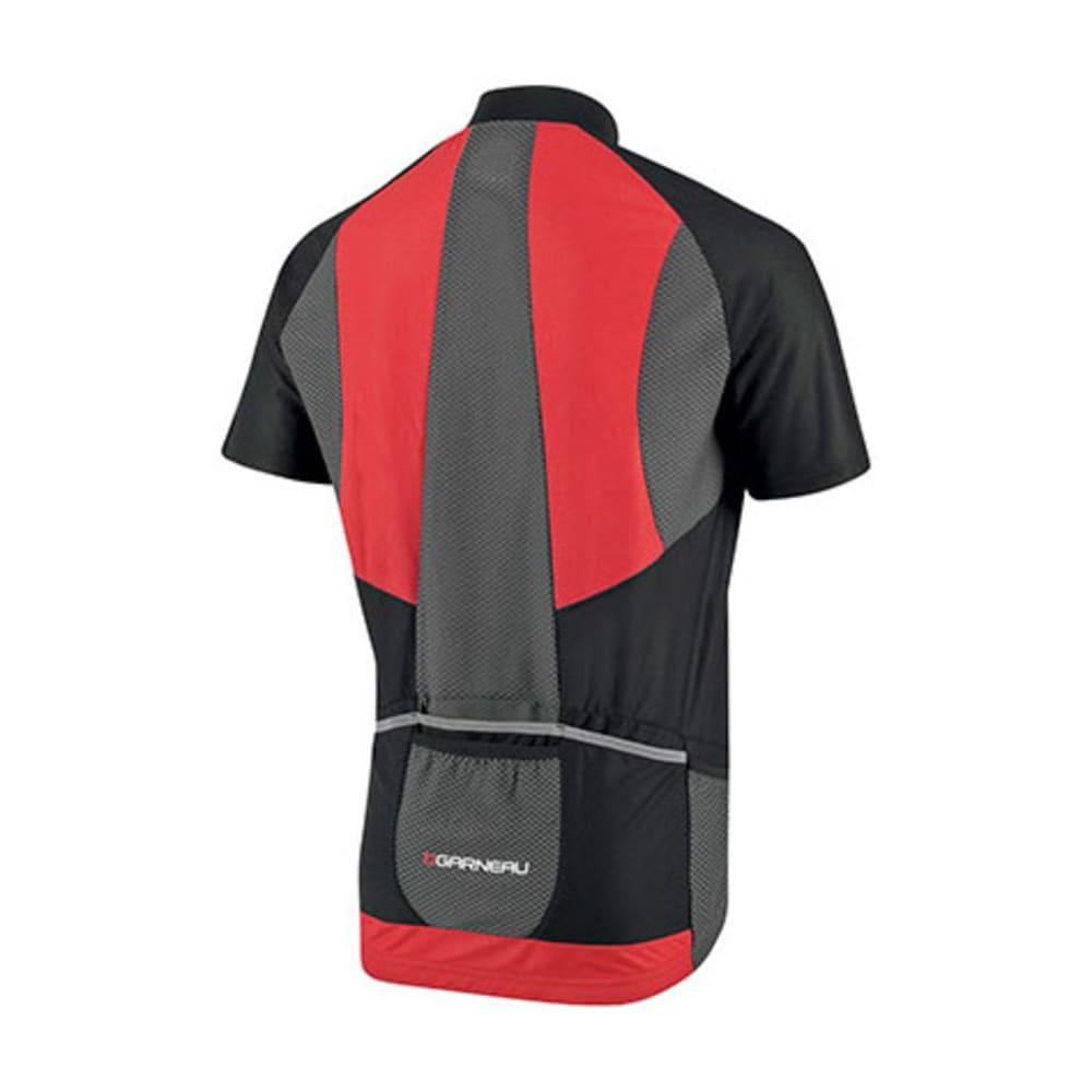 LOUIS GARNEAU Men's Metz Lite Bike Jersey, Black/Grey/Red - BLACK/GREY/RED