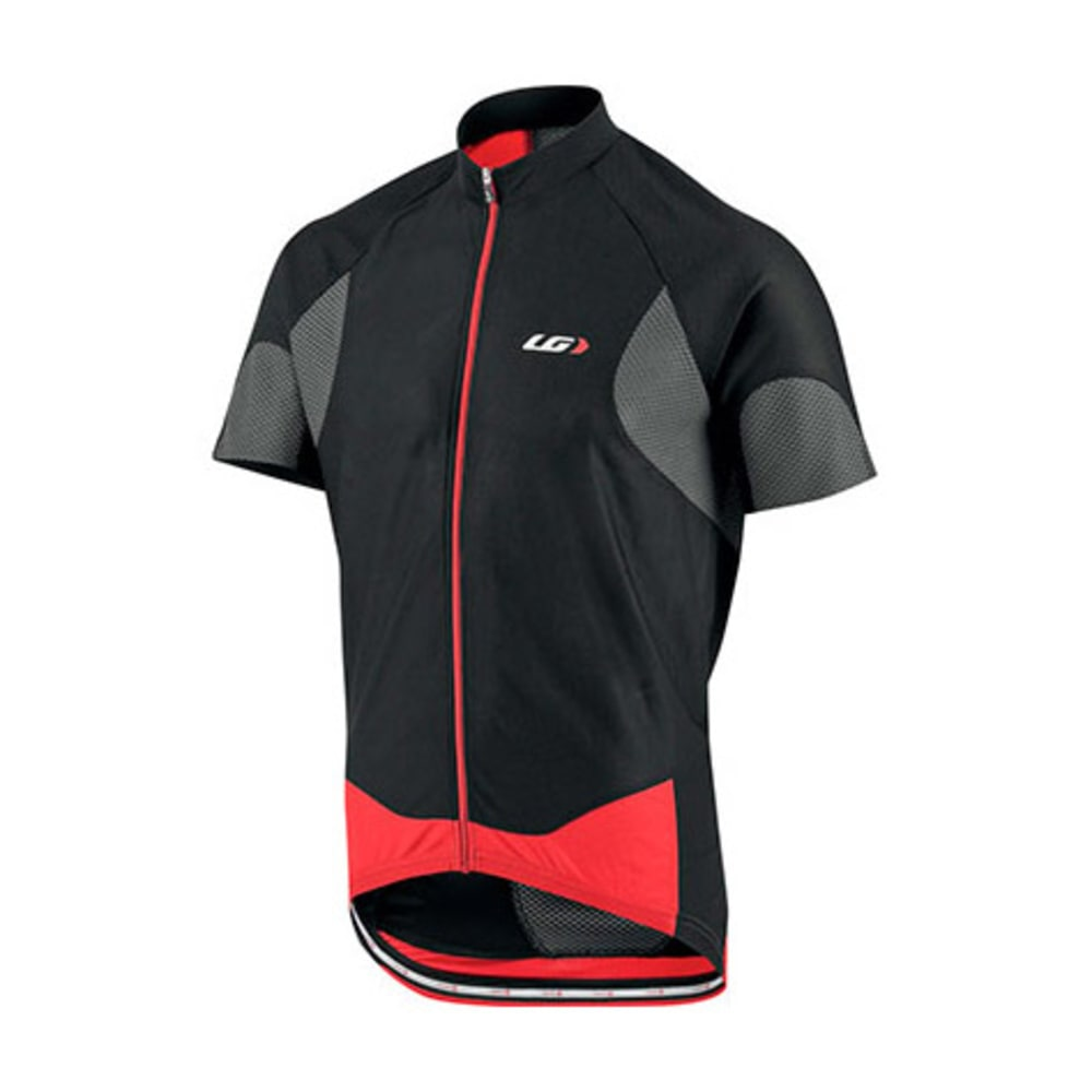 LOUIS GARNEAU Men's Metz Lite Bike Jersey, Black/Grey/Red - BLACK/GREY/RED