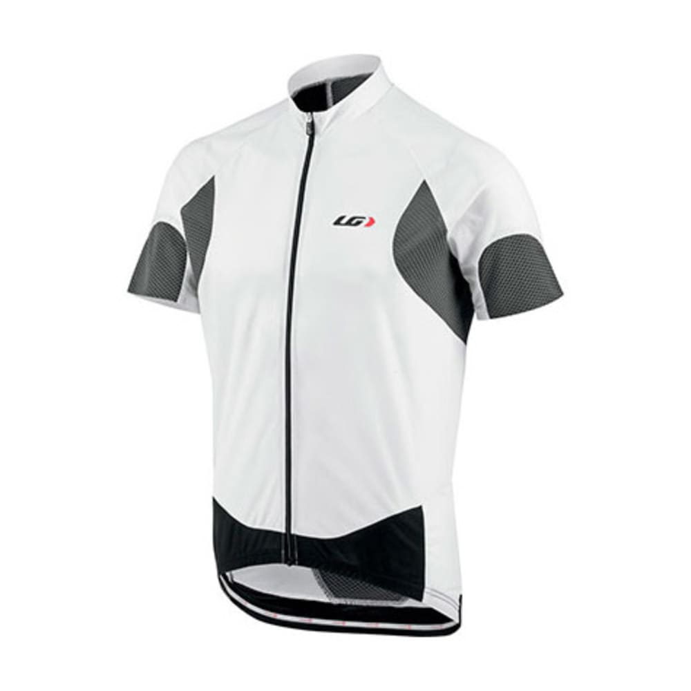 LOUIS GARNEAU Men's Metz Lite Bike Jersey, White/Iron - WHITE/IRON
