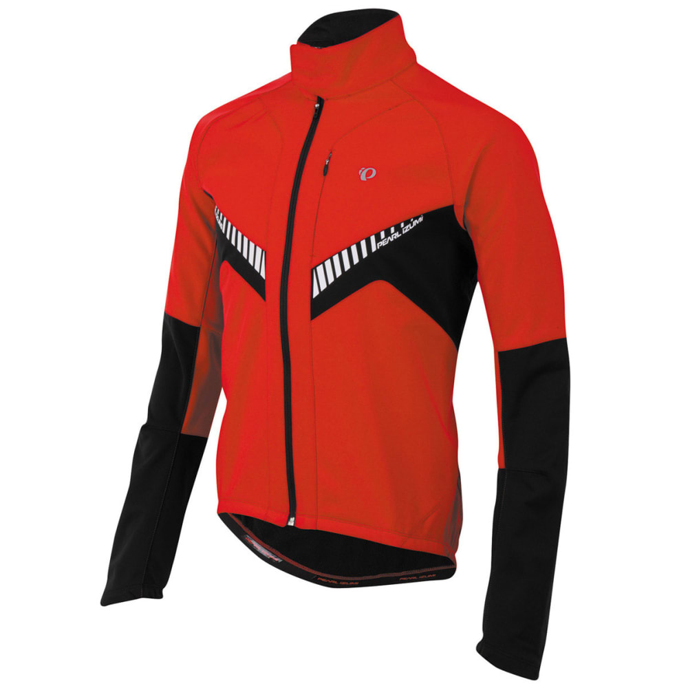 PEARL IZUMI Men's Elite Soft Shell Jacket, Mykonos Blue/Black - TRUE RED