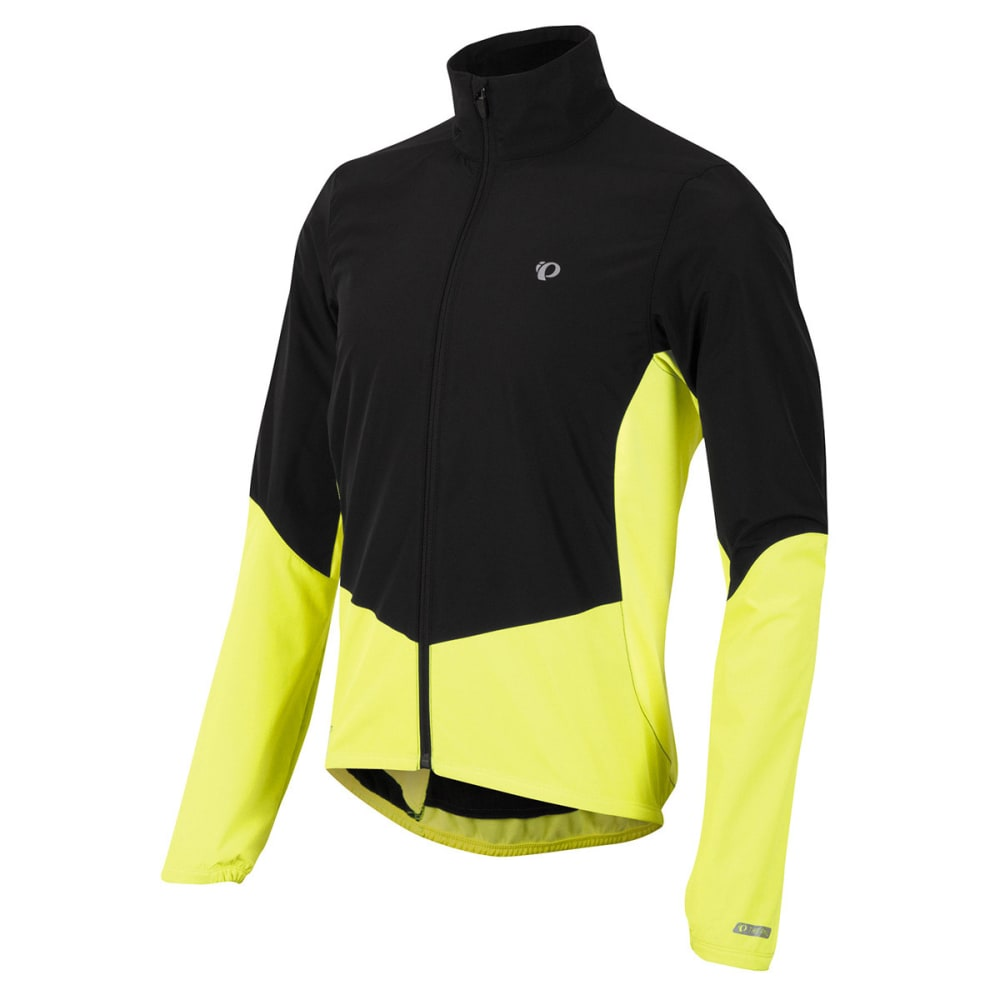 PEARL IZUMI Men's Select Thermal Barrier Jacket, Black/Yellow - BLACK/SCREAM