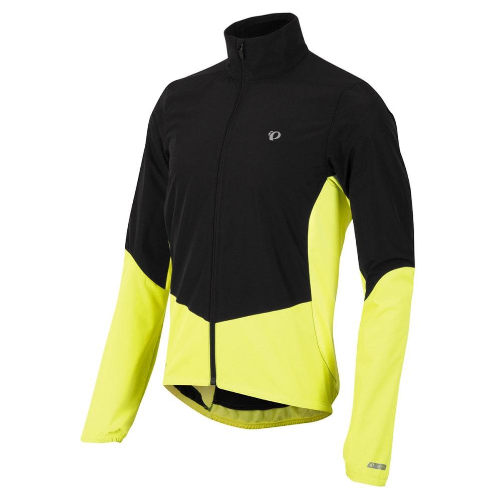 PEARL IZUMI Men's Select Thermal Barrier Jacket, Black/Yellow - BLACK/SCREAM