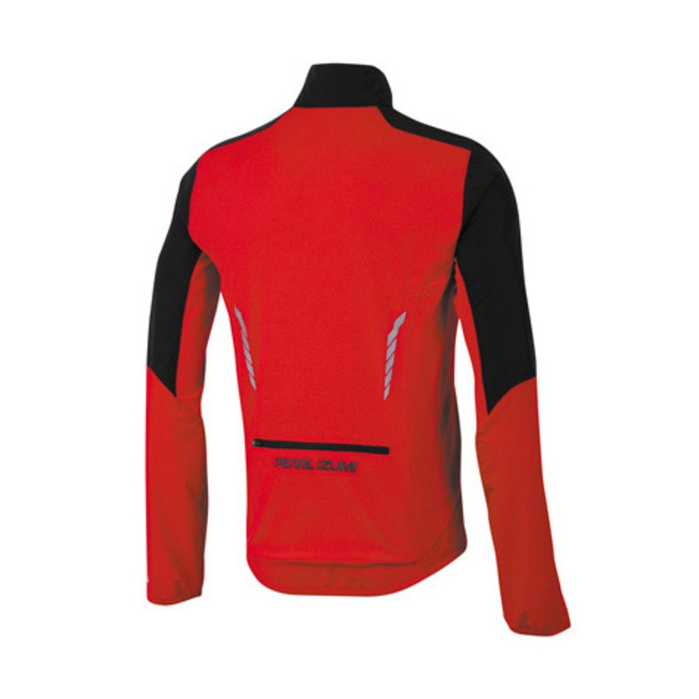 PEARL IZUMI Men's Select Thermal Barrier Jacket, Black/True Red - BLACK/RED