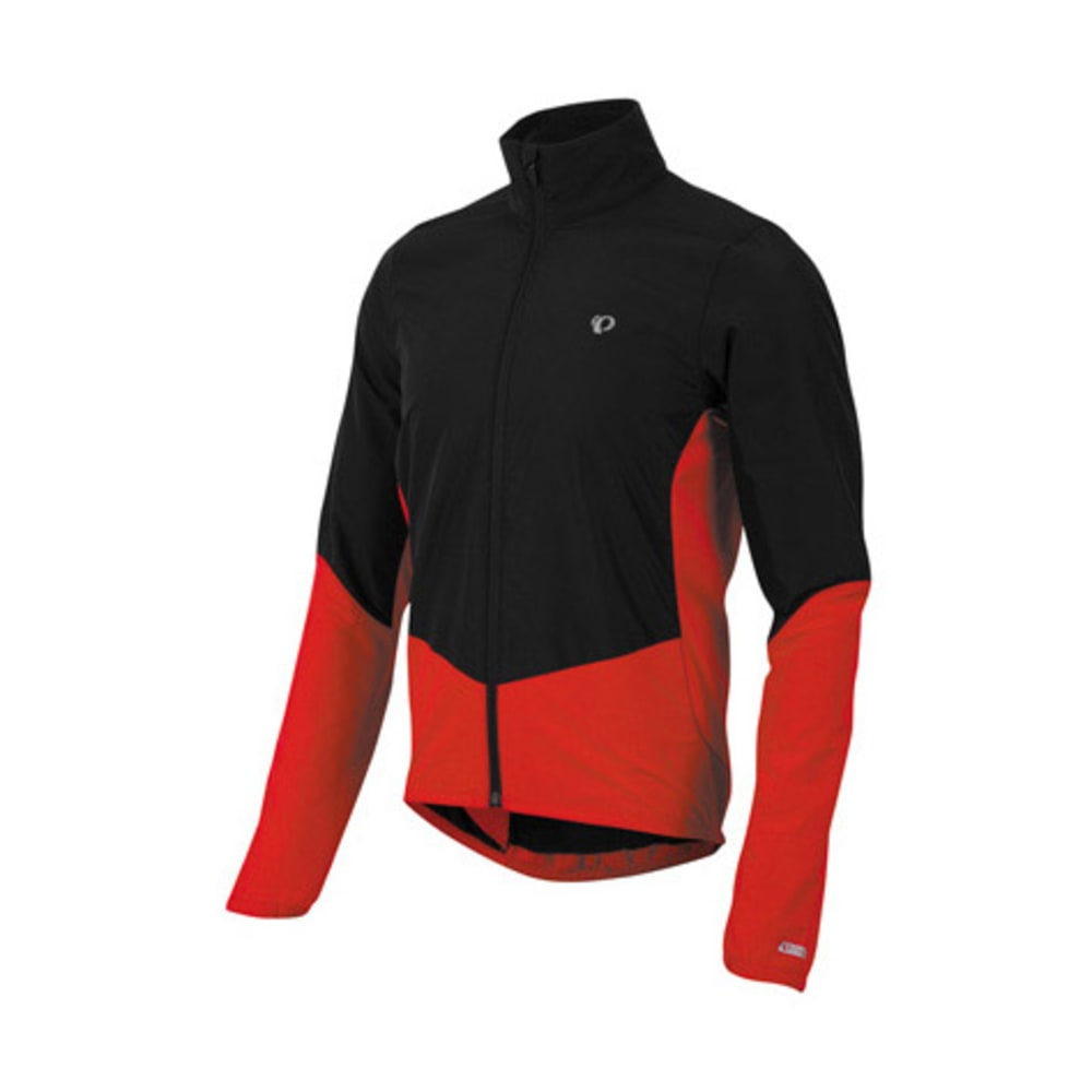 PEARL IZUMI Men's Select Thermal Barrier Jacket, Black/True Red - BLACK/RED