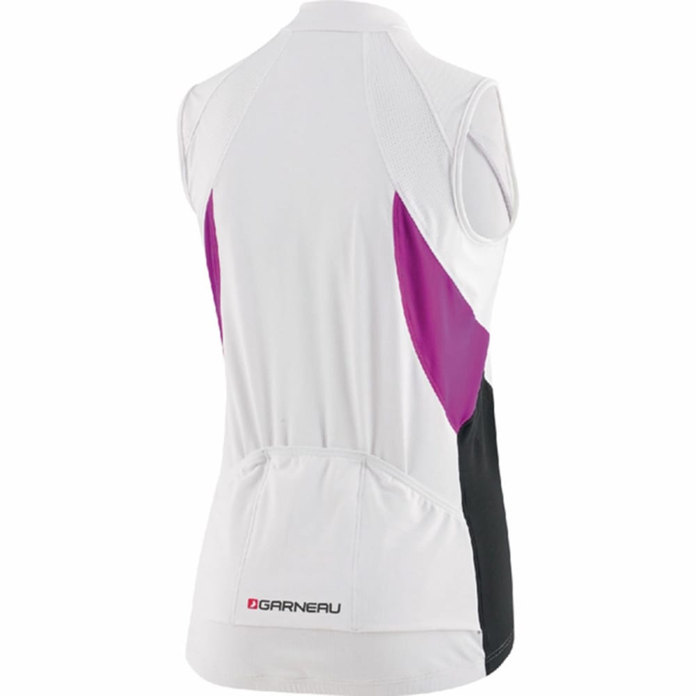 LOUIS GARNEAU Women's Breeze Vent Sleeveless Bike Jersey - WHITE/PURPLE
