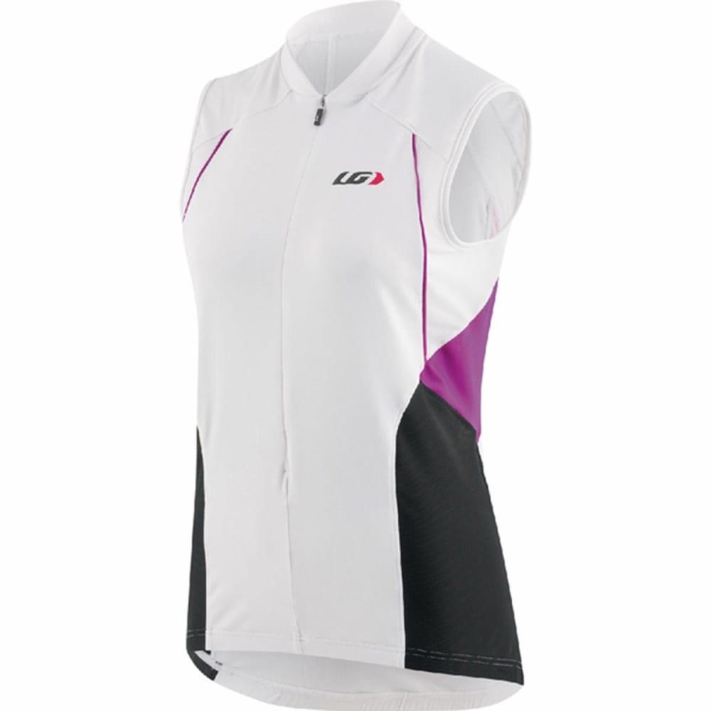 LOUIS GARNEAU Women's Breeze Vent Sleeveless Bike Jersey - WHITE/PURPLE